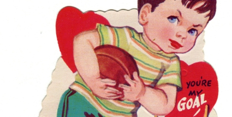 """vintage valentine football pass"", by Karen Horton, Flickr"